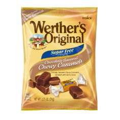 Sweet caramel and rich cocoa, blended together for a deliciously sugar-free indulgence. Werther's Caramel, Caramel Bits, Sugar Free Candy, Sugar Free Desserts, Nutella Recipes, Snack Recipes, Junk Food Snacks, Chocolate Caramels, Food Cravings
