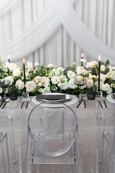 Lucite chairs #weddintable | PHOTOGRAPHY Roots Of Life Photography | PLANNING Amelia Cole Weddings | STATIONERY Emily Rose Ink | FLORAL DESIGN The Petal