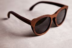 Wooden sunglasses.