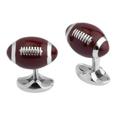 Brand new pair of Deakin & Francis sterling silver cufflinks, featuring enamel decorated American football .Comes with box and booklet  DESIGNER: Deakin & Francis  MATERIAL: Sterling Silver  GEMSTONE: none  DIMENSIONS: Top measures 18mm x 12mm  WEIGHT: 22.8g  MARKED/TESTED: Deakin & Francis and 925  CONDITION: New  PRODUCT ID: 14192