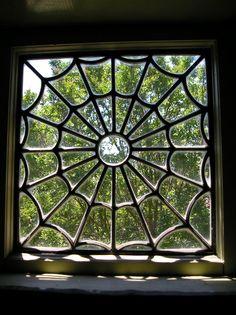 i dont like spiders but i do like spider webs, thats a sweet window!