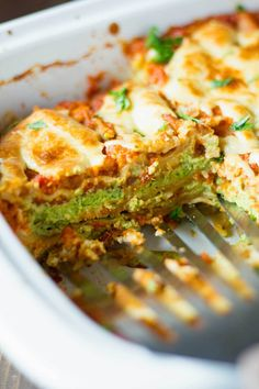 Going to make vegetarian instead of vegan!The best damn vegan lasagna is the one you make at home! This super-healthy vegan lasagna is hearty, chock full of vegetables, and so so good! Vegan Dinner Recipes, Veggie Recipes, Whole Food Recipes, Vegetarian Recipes, Cooking Recipes, Healthy Recipes, Vegan Lasagna Recipe, Cheap Recipes, Greek Recipes
