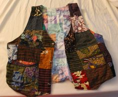 Reversible Vintage Patchwork Vest by GraingerCreations on Etsy, $10.00