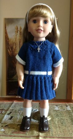 My Australian girl Emily, in her knitted school dress.