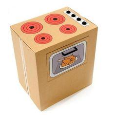 estufa reciclada juego   ... , puedes hacer una caja de cartón para aprender las formas jugando