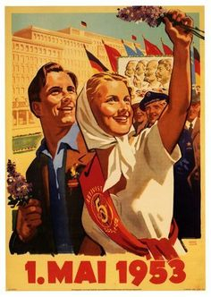 1 Mayıs 1953, Almanya   DÜNYADAN 1 MAYIS POSTERLERİ