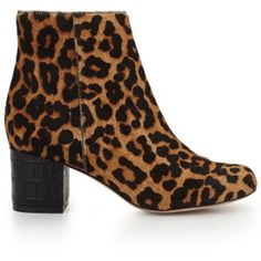 Sam Edelman Edith Print Boots - Leopard ($165) ❤ liked on Polyvore featuring shoes, boots, ankle booties, leopard, short boots, leopard print boots, leopard booties, suede bootie and suede booties