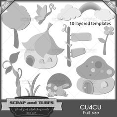 Fantasy Termplates (FS/CU4CU) | CU/Commercial Use #digital #scrapbook design tools at CUDigitals.com #digitalscrapbooking