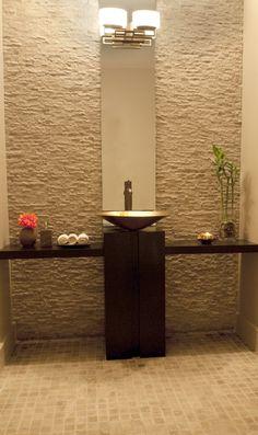 Powder room - John's Creek, GA residence. Interior design :: Michael Habachy Designs