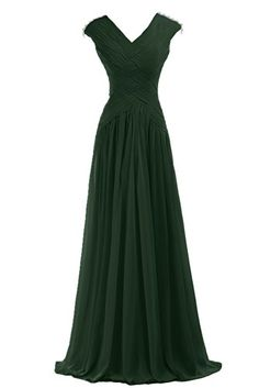 Sunvary Elegant Pleated Chiffon Mother of the Bride Dresses Long US Size Dark Green Mob Dresses, Bridesmaid Dresses, Formal Dresses, Prom Dress, Green Evening Gowns, Evening Dresses, Green Chiffon Dress, Green Dress, Chiffon Dresses
