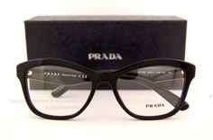 4bdc703d1834 Details about Brand New Prada Eyeglasses Frames 29R 29RV 1AB BLACK SZ 54  Women