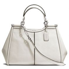 The Madison Caroline Satchel In Textured Leather from Coach