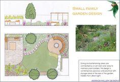 Small urban family garden design idea