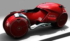 Porsche's red concept powerbike