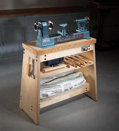 Ultimate Lathe Stand - Popular Woodworking Magazine I will probably never use this pin to make something like this but.... I always have wondered if I would be able to learn how to make  beautiful things