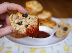 Pizza Muffins - Fun #pizza alternative for dinner or party food! by @The Weary Chef