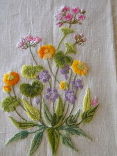 Special Listing for Adela Vintage Botanical Embroidery