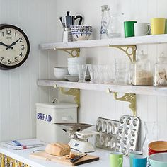 Recycled chic: shelving from scaffolding