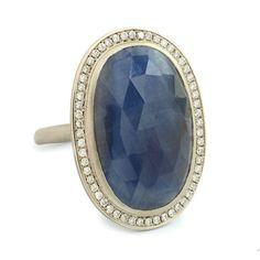 One of a Kind Night Blue Oval Sapphire Ring   One of a Kind Jewellery   Anne Sportun Fine Jewellery Style: RX1591   Anne Sportun Fine Jewellery   Rings - Necklace - Bracelets & Charms - Earrings   Custom Handcrafted Jewellery   Toronto - Canada