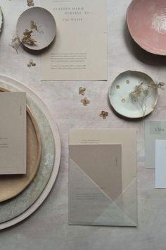 Styling wedding invitation idea