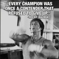 """""""Every champion was once a contender that refused to give up"""" -Rocky Balboa- Watch it: http://catalog.cantonpl.org/record=b1439786~S4"""