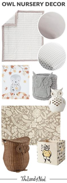 Take a walk on the wild side with our owl nursery decor. Featuring wall art, bedding, rugs, and storage picks, these essentials are perfect for a baby girl or boy's nursery (we're thinking gender neutral rooms, too). Pops of gray and neutral hues round off any woodland theme nursery so nicely.