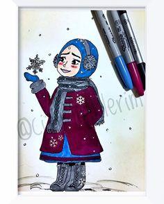 #hellowinter  #❄️ # #☃ #çizim #illustrasyon #illustration #ciziktiriklerim #sharpie  #resim #myart #drawing #sketching  #instaart  #watercolor #painting  #instaartist #art #cartoonarts #artoftheday #instadraw #instaartist #snow #snowgirl #hijab