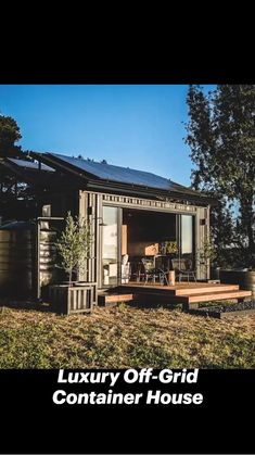 Shipping Container Cabin, Cargo Container Homes, Shipping Container Home Designs, Building A Container Home, Container House Design, Small House Design, Unusual Homes, Shed Homes, Brick Patios