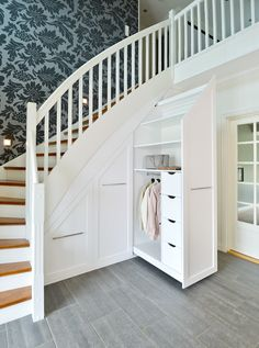 House Design Ideas New Homes Stairs Ideas Bedroom Storage Ideas For Clothes, Bedroom Storage For Small Rooms, Staircase Storage, Staircase Design, Storage Under Staircase, Under Stairs Cupboard Storage, House Design, Storage Hacks, Storage Organization