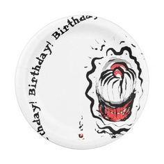 Birthday Oriental Cupcake Paper Plate