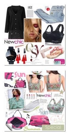 """woman's fashion lovenewchic"" by bellamonica ❤ liked on Polyvore featuring Balmain, Lipstick Queen, AERIN, MARA, Nivea, 111Skin and Bobbi Brown Cosmetics"