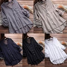 Casual Women See Through Long Sleeve Pocket Blouse ✔ Worldwide Free Shipping ✔ Subscribe & Get $10 Off ✓ For shop click on bio Link search id>>TDM00831  #casualblouse #Loosetop #Dailycasual #ootd Color Block Bikini, Loose Tops, Shirt Dress, Blouse, See Through, Pocket, Free Shipping, Search, Link