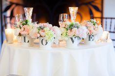 Rustic and romantic flowers, arranged with love.