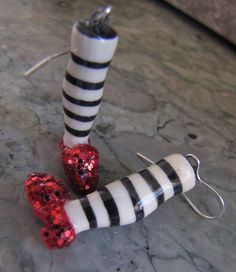 Earrings Handmade, Handmade Jewelry, Ruby Slippers, Wicked Witch, Wizard Of Oz, Cool Items, Clay, Pottery, Brick Road