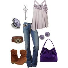 Purple & brown Love this!!!