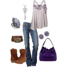 Purple & brown Love this!!!