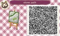 ACNL QR Code: Stepping Stone Dark Green Grass