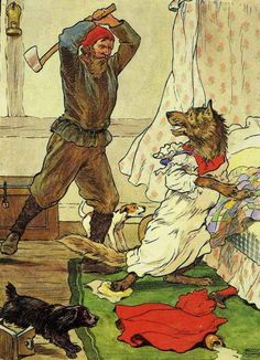 Red Riding Hood by Frank Adams (The Woodcutter and the wolf)