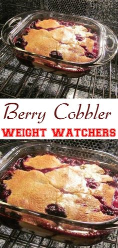 Pin on Blueberries Oct Berry Cobbler Low Carb Desserts, Low Calorie Recipes, Healthy Desserts, Easy Desserts, Healthy Foods, Healthy Recipes, Berry Cobbler, Fruit Cobbler, Skinny Recipes