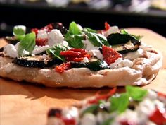 Grilled Zucchini and Herb Pizza