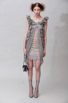 Fashion Friday: Marchesa Fall 2011 | http://brideandbreakfast.ph/2011/03/04/fashion-friday-marchesa-fall-2011/ | Designer: Marchesa | Lava stone short scoop dress