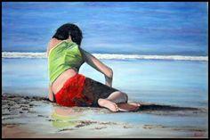 # 9 (Precio 520 €)  ---  LÁMINA: 1000 x 710  ÁREA PINTADA: 860 X 570  ---  La ciudad, la vida, el mar, el individuo...  ---  Cuadros de Ágreda  ---  Marchando Arte  by Carmen Nikol  ---  marchando.arte@gmail.com