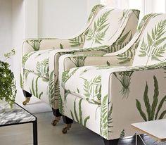 Sanderson's Woodland Fern - leafy wallpaper and fabric #sanderson #leafyfabric