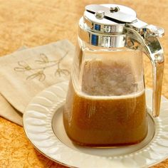 Brown sugar, light corn syrup, and heavy cream combine in this easy copycat recipe for caramel pancake syrup like they serve at diners. Pancakes Easy, Pancakes And Waffles, Pancake Toppings, Pancake Recipes, Breakfast Recipes, Homemade Syrup, Homemade Toffee, Homemade Gifts, What's For Breakfast