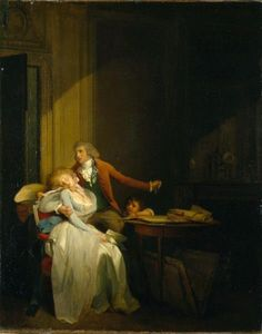 THE PAINTER IN HER STUDIO LITTLE BOY MODEL 1796 FRENCH PAINTING BY BOILLY REPRO