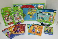 Leapfrog leapreader interactive world map works with tag cool huge lot of leap frog tagleapreader reading system books map cards 1 toys hobbies educational electronic learning toys ebay gumiabroncs Gallery
