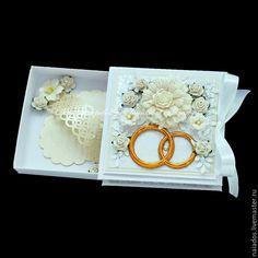 Купить Свадебная открытка-коробочка для денег - свадебная открытка, открытка на свадьбу, Открытка ручной работы