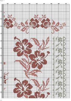(41) Gallery.ru / Фото #6 - 12 - kento Cross Stitch Borders, Cross Stitch Rose, Cross Stitch Flowers, Cross Stitch Designs, Cross Stitching, Cross Stitch Patterns, Picot Crochet, Crochet Cross, Crochet Chart
