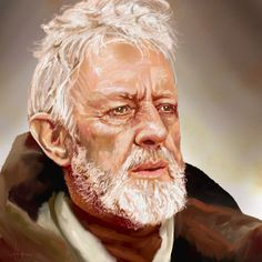 ©️Adam Howard / Adam Howard Art 2021 Alec Guinness, Obi Wan, Award Winner, Over The Years, Gifts For Friends, United States, Portrait, Illustration, Fictional Characters