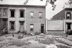 "Sept. 1935. Washington, D.C. ""Houses on Massachusetts Avenue near Union Station."" Photo by Carl Mydans, Resettlement Administration."